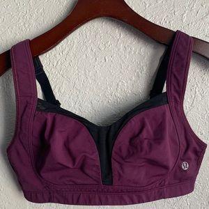 LULULEMON 34C burgundy sports bra